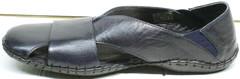 Закрытые сандалии босоножки с резинками мужские Luciano Bellini 76389 Blue.