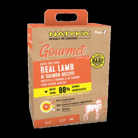 Natyka Gourmet Dog Adult Lamb & salmon Сухой корм для собак с ягненком и лососем
