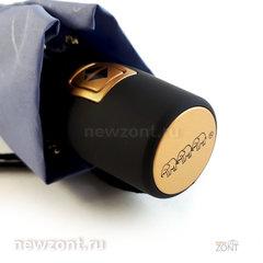Женский зонт Tri Slona L3706 автомат Эпонж серо-голубой с узорами