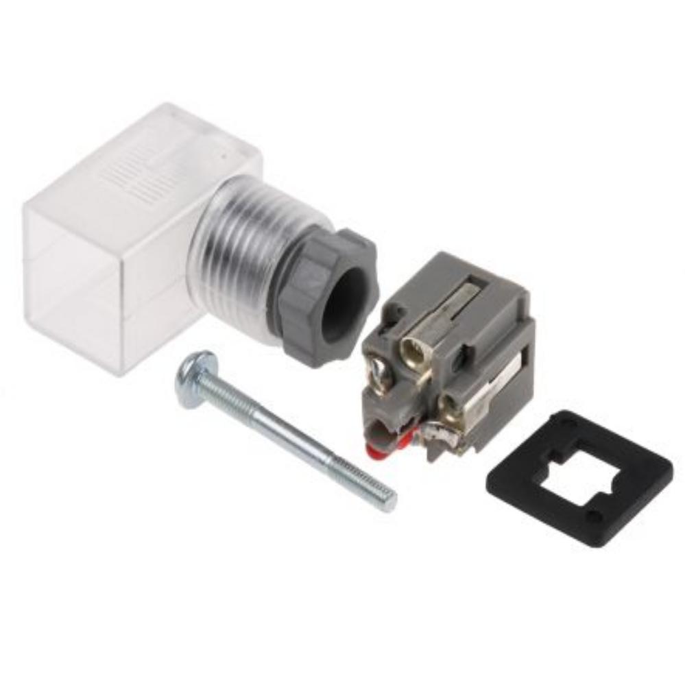 K43  Разъём DIN тип C по DIN 43650, с индикацией и подавителем, 10…50VDC с соблюдением полярности