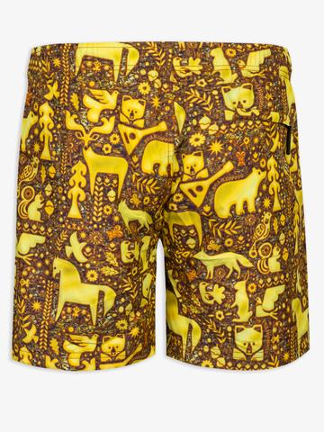 Пляжные шорты «Золотой лес»