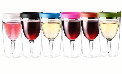 Бокал Asobu Vino 2 go (0,3 литра), розовый