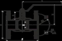 Конструкция LD КШ.Ц.Ф.500/400.016.Н/П.02 Ду500 стандартный проход с редуктором