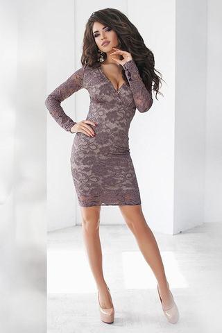 Короткое кружевное платье 1