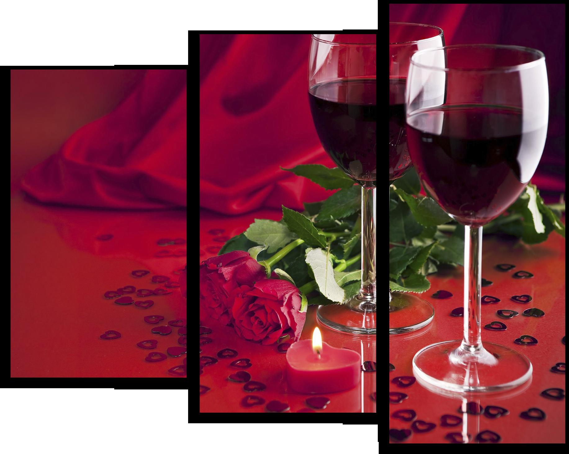 """Модульные картины Модульная картина """"Бокалы с вином"""" М104.png"""
