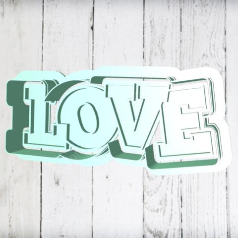 Штамп+резак «Love»