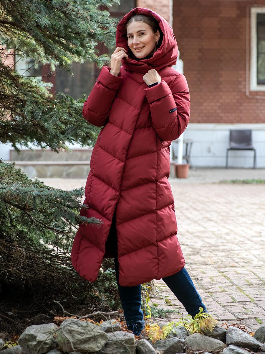 Joutsen пуховик Aini красное дерево - Фото 1
