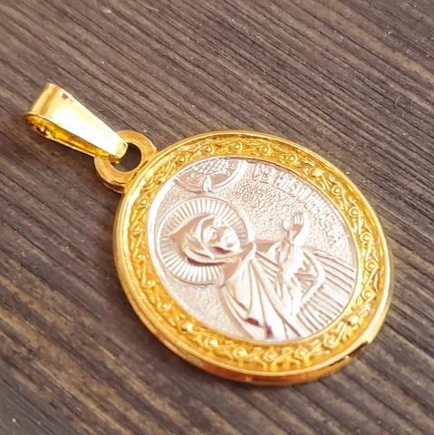 Нательная именная икона святая Аполлинария (Полина) с позолотой кулон медальон с молитвой
