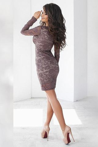 Короткое кружевное платье 3