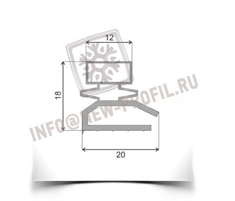 Уплотнитель 76*55см для морозильной двери Бирюса 14 ЕК-1 МКШ-120. Профиль _013