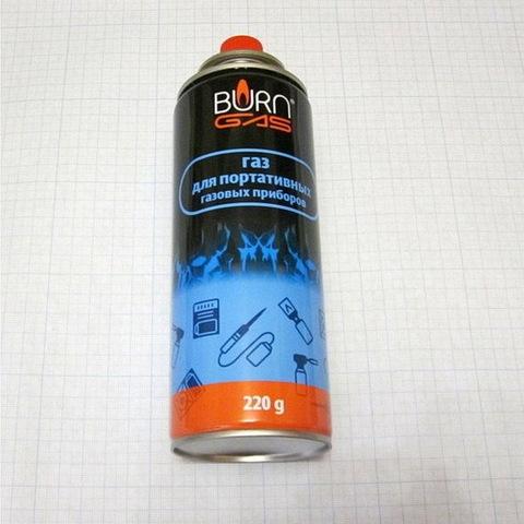 Газ для кемпинга Burn 220g. (Бутан 30%/Пропан 70%)