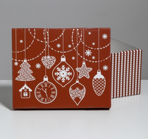 Складная коробка «Яркий праздник», 31,2х25,6х16,1см