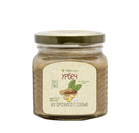 Урбеч из арахиса с солью, 230 г