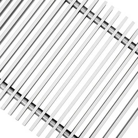 Решетка поперечная алюминиевая Techno шириной 200 мм, длина 1800 мм (цвет серебро)