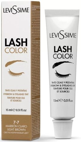 Краска для бровей и ресниц Levissime 15 мл. Цвет - светло-коричневый, 7.7
