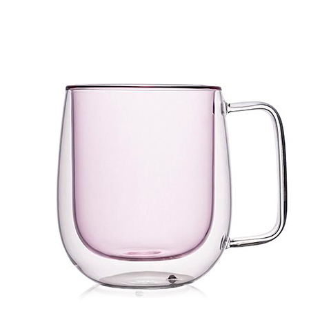 Кружка с двойными стенками 350мл - 1шт. Розовый