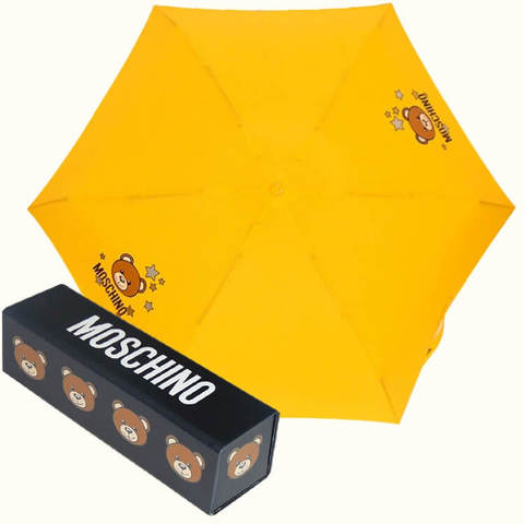 компактный желтый зонтик автомат мишка Тэдди