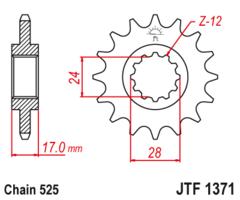 Звезда передняя JT F 1371.15 HONDA CBF CB CBR 600