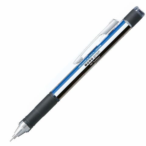 Механический карандаш 0,5 мм Tombow Mono Graph - Grip Model (сине-бело-черный)