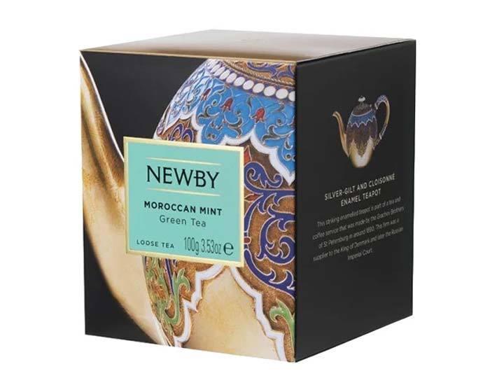 Чай зеленый листовой Newby Heritage Moroccant mint, 100 г