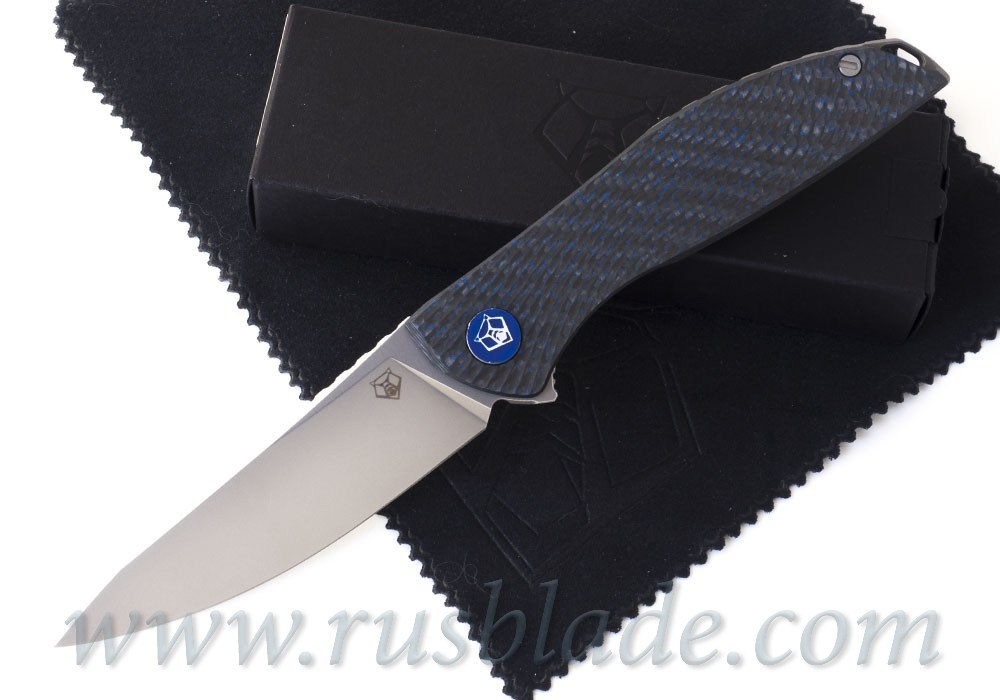Shirogorov 2020 HatiOn Zero M390 BLUE CARBON FIBER MRBS