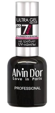Alvin D`or  Лак для ногтей ULTRA GEL topcoat 15мл  ADN-3401