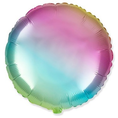 Круг разноцветный, нежный радужный градиент, 45 см