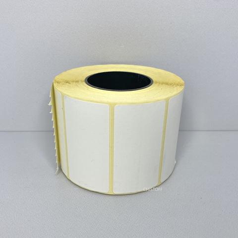 Термоэтикетка самоклеящаяся 58х30 мм