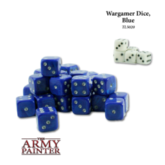 Wargaming Dice: Blue with White
