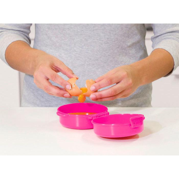 "Омлетница-яйцеварка для СВЧ Sistema ""Microwave"" 271 мл, цвет Розовый"