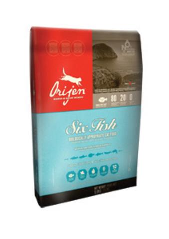 Orijen Six Fish для взрослых кошек 6 рыб