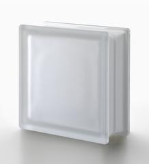Стеклоблок полуматовый бесцветный гладкий Neutro  Vetroarredo Q19T SAT 1 LATO 19x19x8
