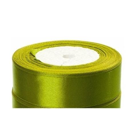 Лента атласная (размер:25мм х 25 ярдов) Цвет:светло-зеленый_2