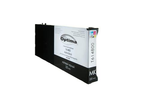 Картридж Optima для Epson 4800/4880 C13T606800 Matte Black 220 мл