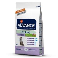 Корм для вывода шерсти у стерилизованных кошек, Advance Sterilized Hairball, с индейкой и рисом