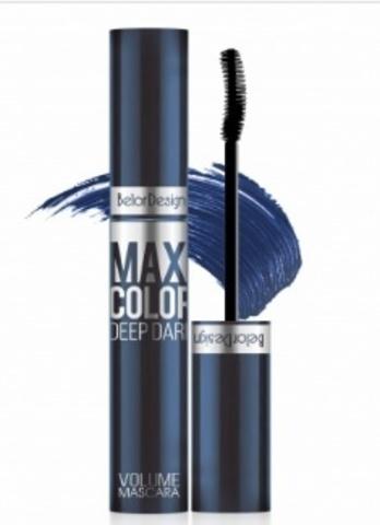 BelorDesign Тушь для ресниц Maxi Color объемная синяя