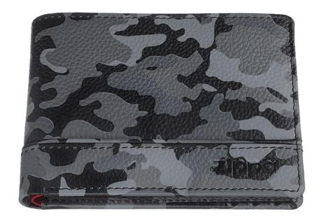 Портмоне Zippo, серо-черный камуфляж, натуральная кожа, 11,2×2×8,2 см