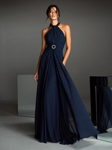 Вечернее платье классическое безрукавное