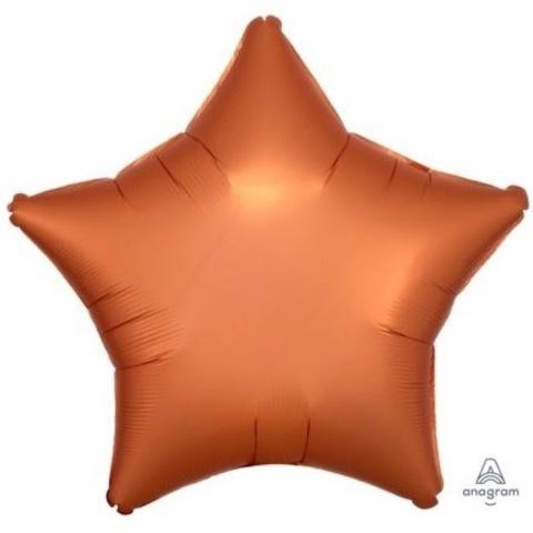 Шар звезда сатин оранжевый, 45 см