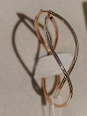 Конго витые с узором и позолотой (серьги из серебра)