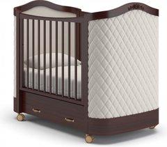 Кровать детская Тиффани декор ромб махагон