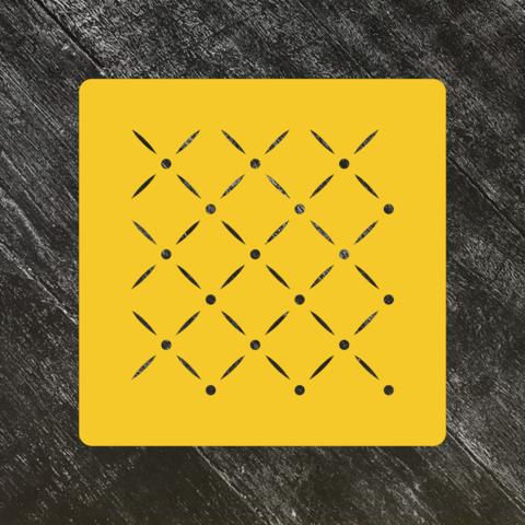 Трафарет-фон №14 Узор с точками