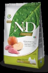 Корм для собак мелких пород, Farmina N&D Boar & Apple Adult Mini, с кабаном и яблоком