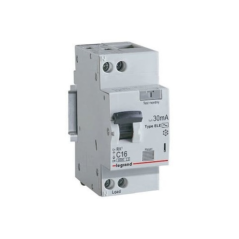 Дифавтомат - Автоматический выключатель дифференциального тока (АВДТ) RX - 2P - 16 А, 30 мА, Тип АС. Legrand (Легранд). 419399