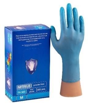 Перчатки Safe&Care Голубые TN 303 (200 шт.)Размер: М