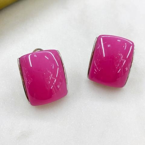 Серьги-кластеры акрил (розовый)
