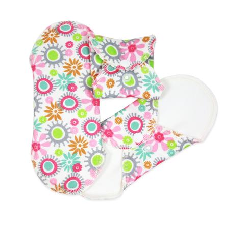 Многоразовые прокладки женские, Ежедневные, 3шт., Flowers