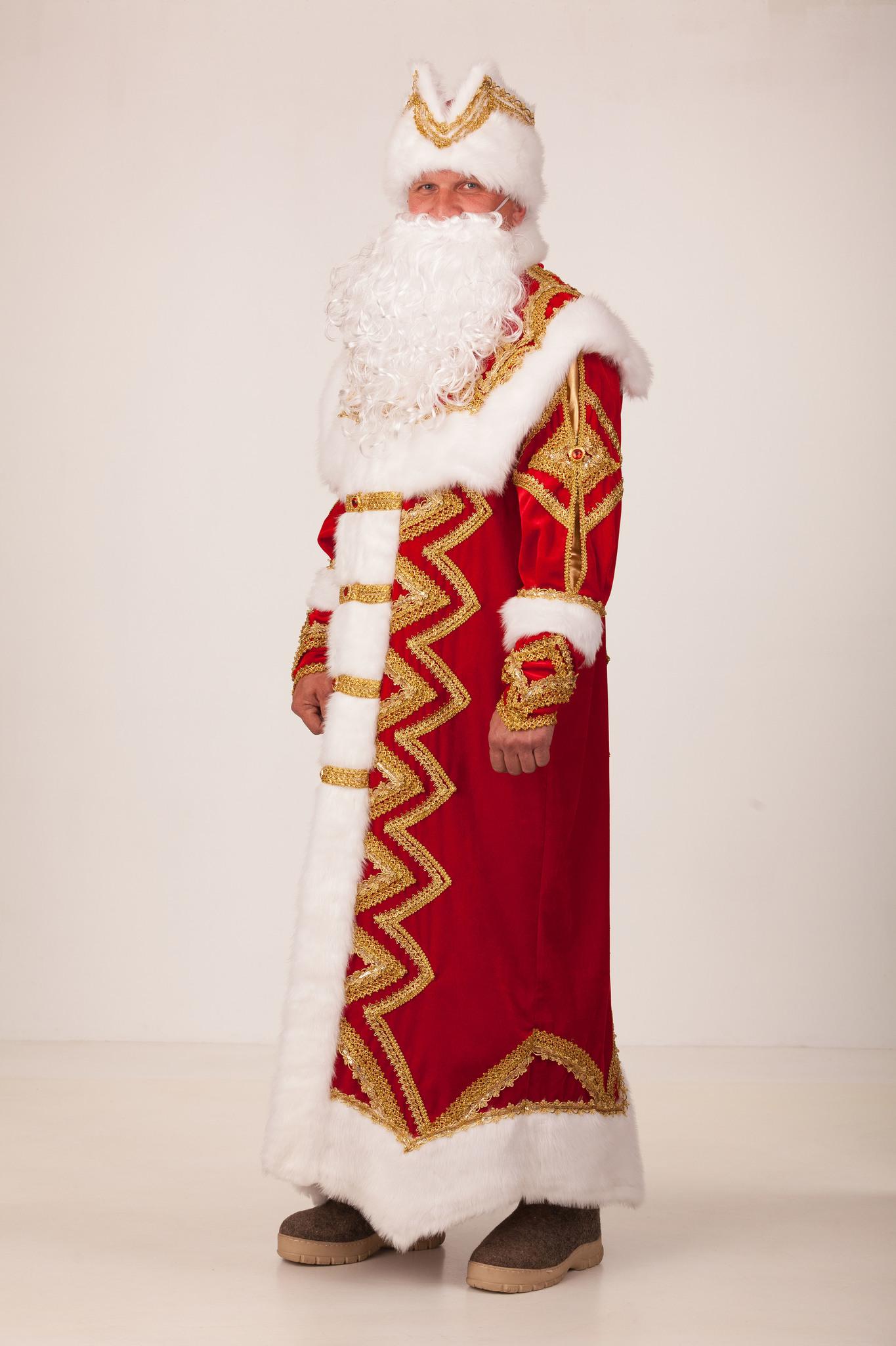 Новогодний костюм взрослый Дед Мороз «Великолепный»