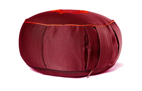 Подушка Ом круглая с каймой, 30х15 см