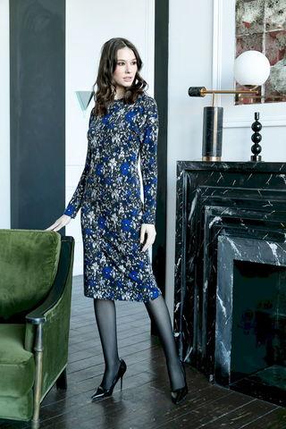 Фото платье-футляр с круглой горловиной и длинными рукавами - Платье З487-067 (1)
